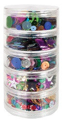 Sequins Stackable Pack of 100g - SM326 - Collins Craft and School Supplies