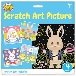 Easter Scratch Art Pictures Pack of 4 - CR0678