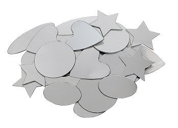 Mirrors Geometric Shapes Adhesive Pack of 50 - TQ004 - Collins Craft and School Supplies