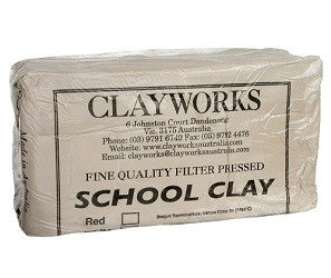 Earthware Kiln Dry Clay 10kg - Collins Craft and School Supplies