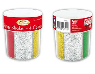 6 Way Glitter Shaker 4 colours - XM0365 - Collins Craft and School Supplies
