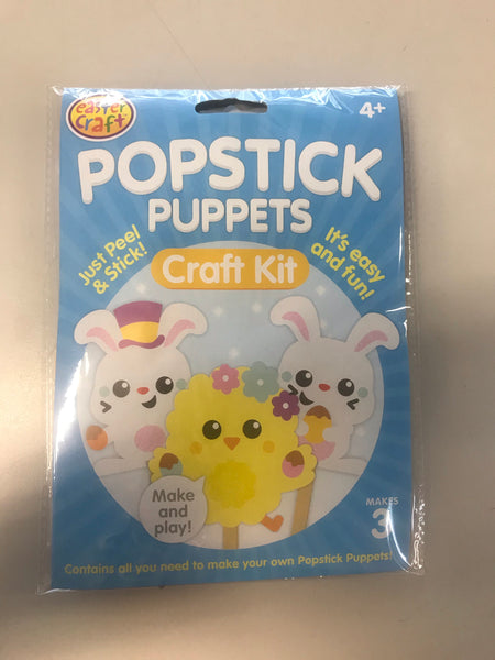 Easter Popstick Craft Puppet Kits Pack of 3 - CR0482