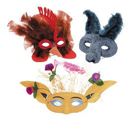 Face Masks Paper Mache Pack of 24 - Collins Craft and School Supplies