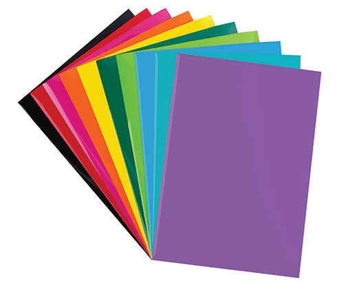 Iron-On Sheets Assorted Colours Pack of 10 - PA773