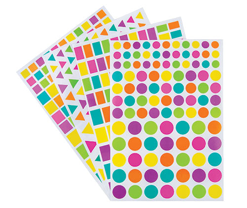 Assorted Adhesive Shapes Pack of 40 Sheets - ST190