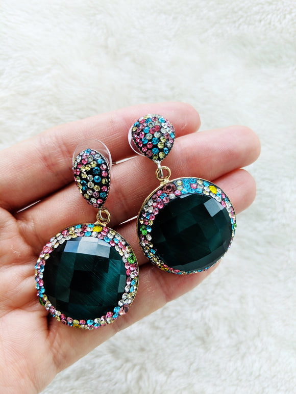 Crystal multicolor earrings
