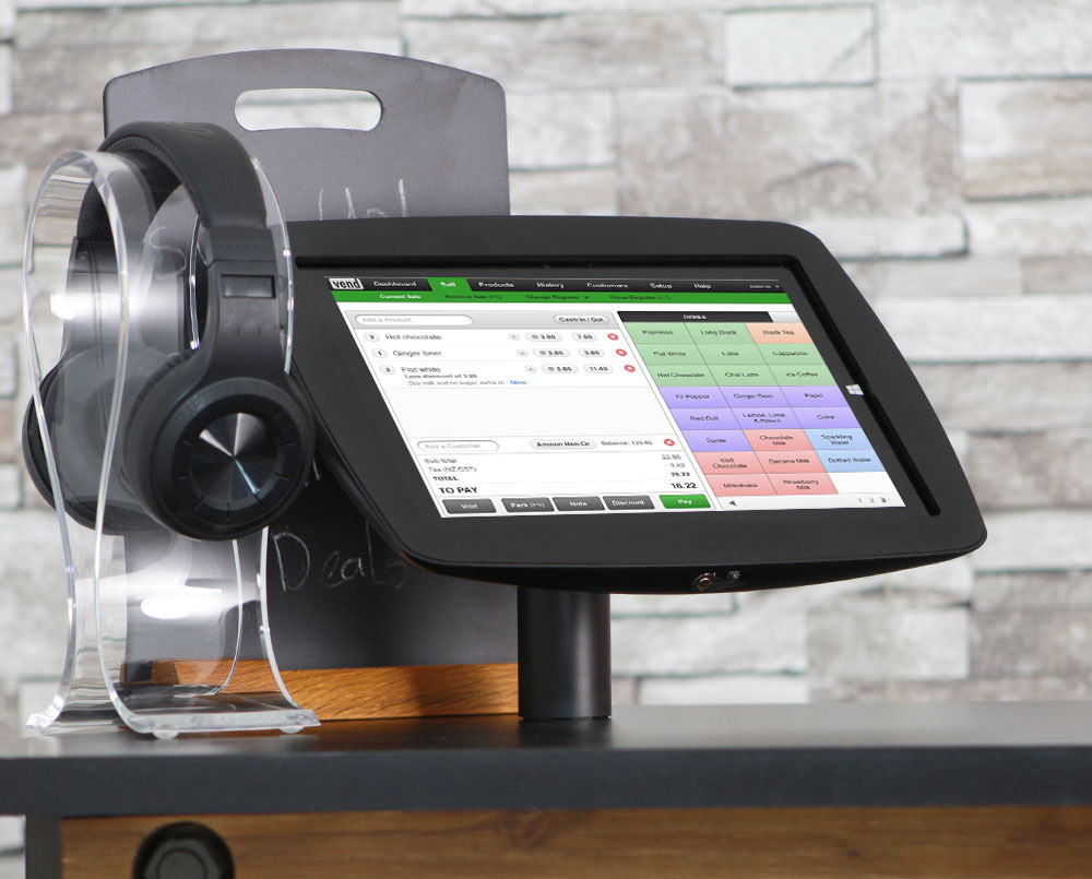 The Vend POS App with the BossTab Fusion Tablet Stand