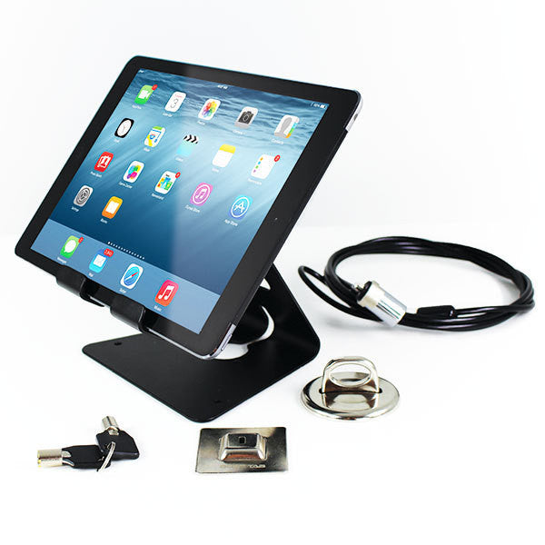 Universal Tablet Stand, Cable Lock & Anchor Point Kit