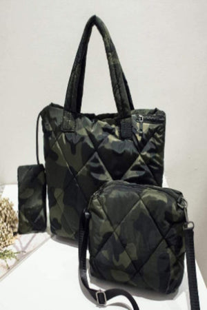 Puffer Quilted 3pc. Bag Set