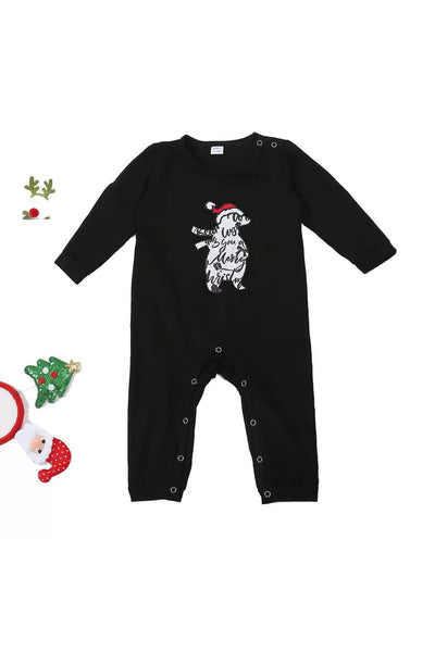 Polar Bear Script Christmas Family Pajamas