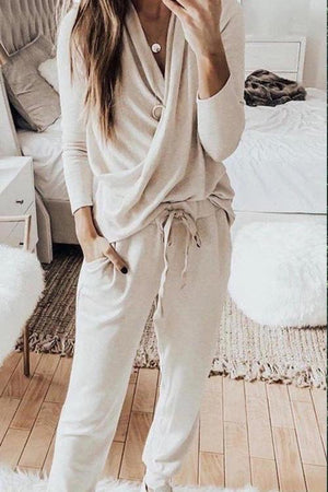 Jacqueline Draped Loungewear Sets