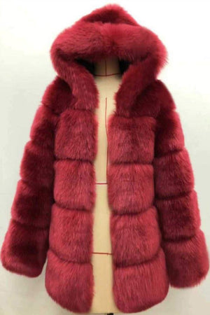 Luxe Faux Fur Hooded Parka