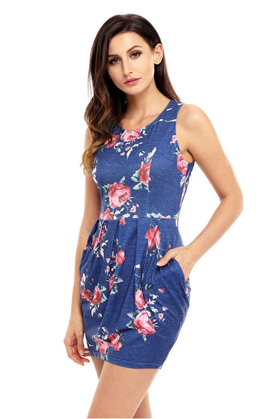 Short & Sweet Floral Mini Dress - Della Direct