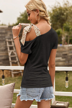 Sling Shoulder Bow Tie Tee