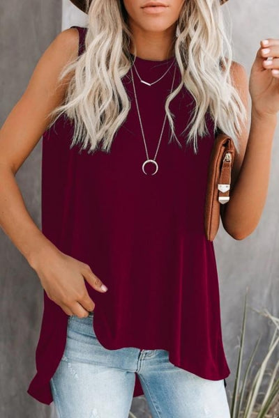Cadence High-Low Sleeveless Tunic - Della Direct