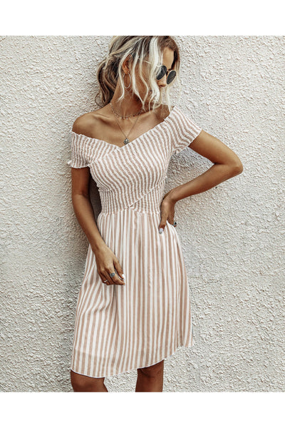 Summer Breeze Smocked Criss-Cross Dress