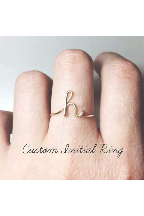 Custom Initial Ring - Della Direct