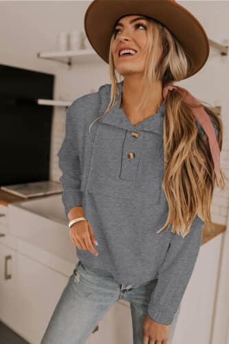 Tilly Drawstring Hoodie - Della Direct