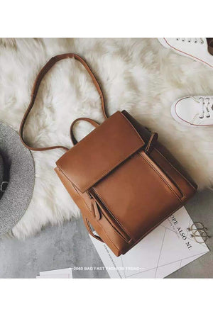 Riley Vegan Leather Convertible Backpack & Shoulder Bag - Della Direct