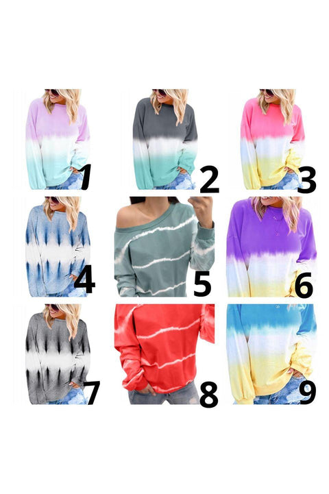 Tie Dye Sweatshirt Collection-9 Styles