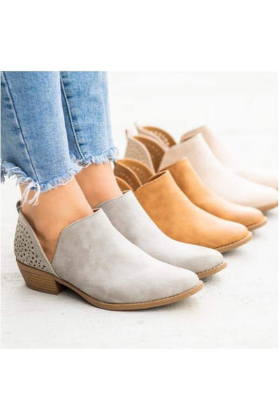Rae Perforated Booties - Della Direct