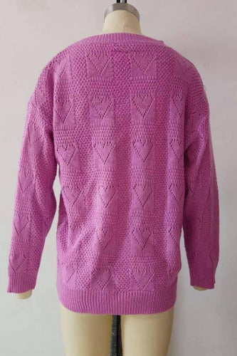 Heart Pointenelle Sweater