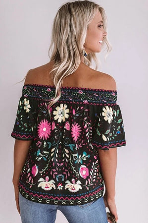 Free Spirit Off-The-Shoulder Top - Della Direct