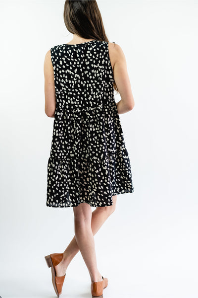 Alice Tiered Ruffle Dotted Sleeveless Sundress - Della Direct
