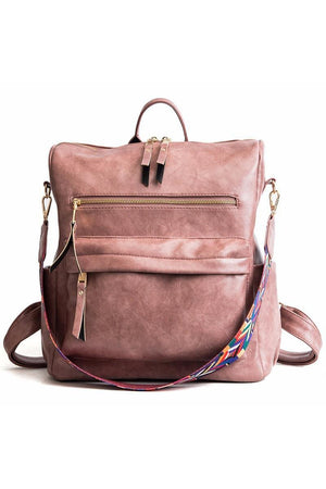 Niya Vegan Leather Convertible Backpack Bag - Della Direct