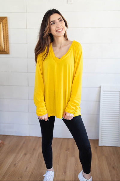 Deep-V Sexy Slouchy Inside Out Tee