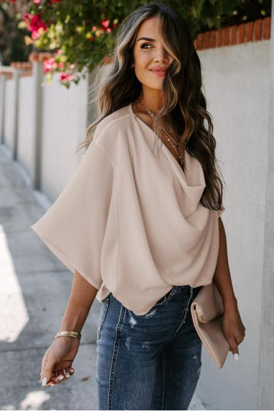 Ella Draped Blouse - Della Direct