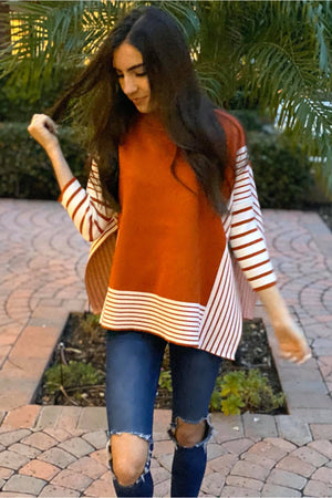 Red Panda Sweater-Cape - Della Direct