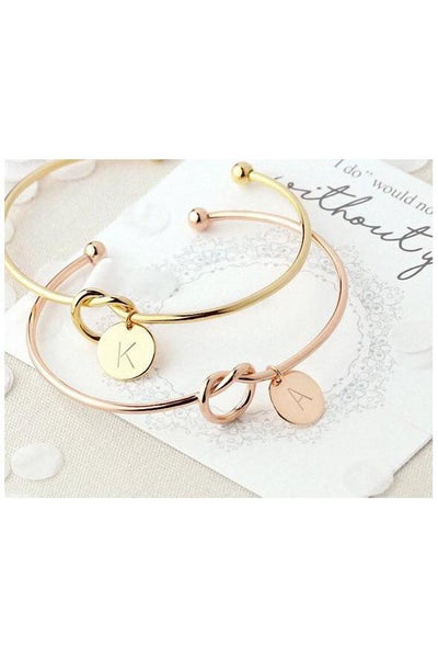 Gilded Knot Bangle - Della Direct