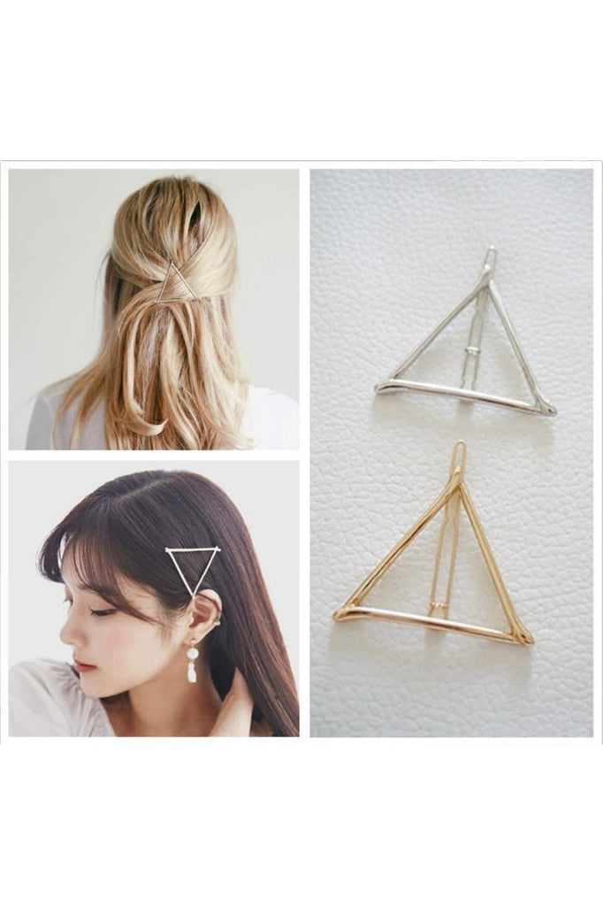 Gold Geometric Hair Clip - Della Direct