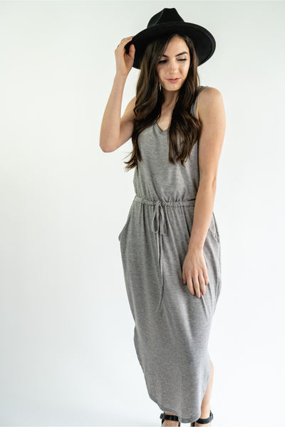 Journee Drawstring Midi Dress - Della Direct