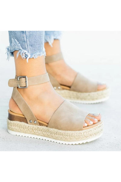 Rope Platform Sandals - Della Direct