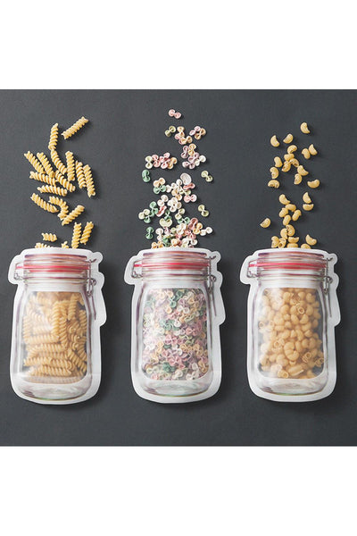 Reusable Mason Jar Storage Bags- 7 pack - Della Direct