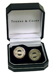DC Tokens Cuff Links (Sterling- Silver)