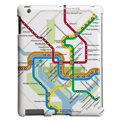 Silver Line Map (Detail) iPad Case