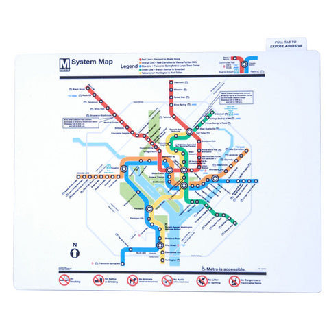 Metro Map Laptop Skin
