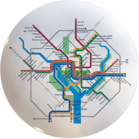 Metro Subway Map Melamine Plate