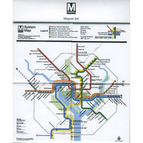 System Map (Set of 4) Magnet