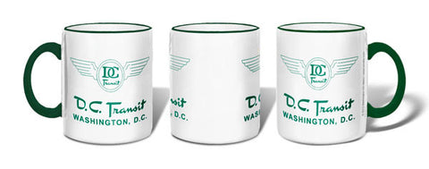 DC Transit (Green text on White background) Mug