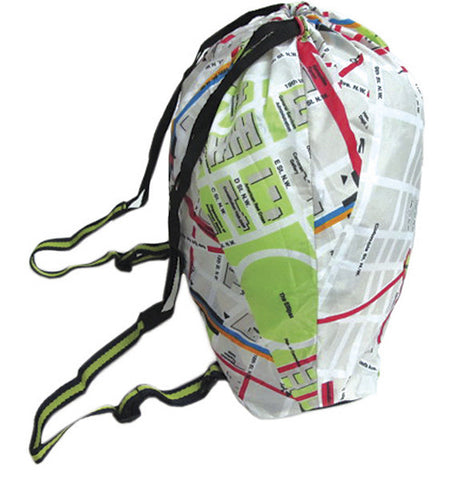 DC Metro System Map Folding Backpack