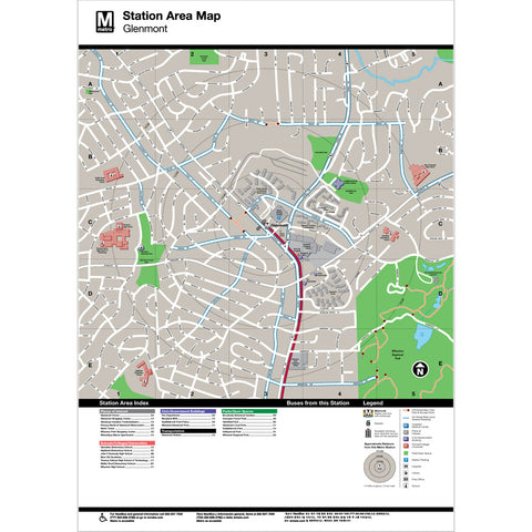 Glenmont Area Map Print