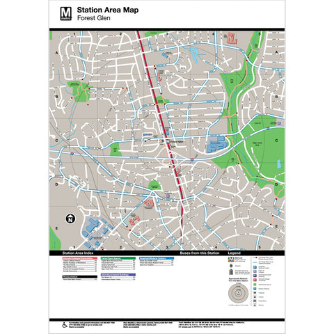 Forest Glen Area Map Print