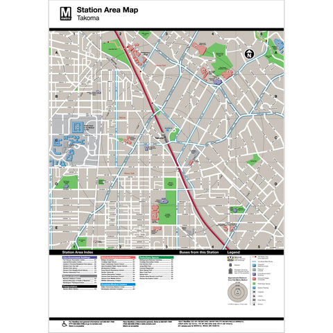 Takoma Area Map Print