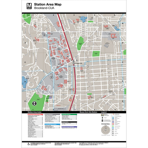 Brookland (CUA) Area Map Print
