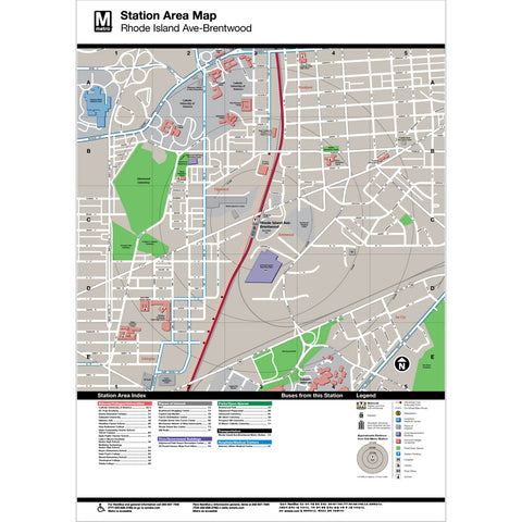 Rhode Island Ave Area Map Print