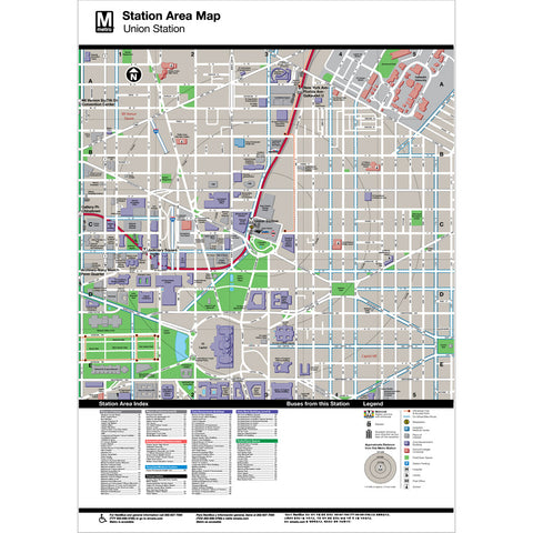 Union Station Area Map Print